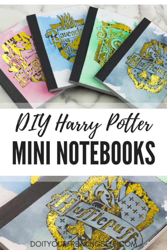 pinterest - DIY Harry Potter Mini Notebooks