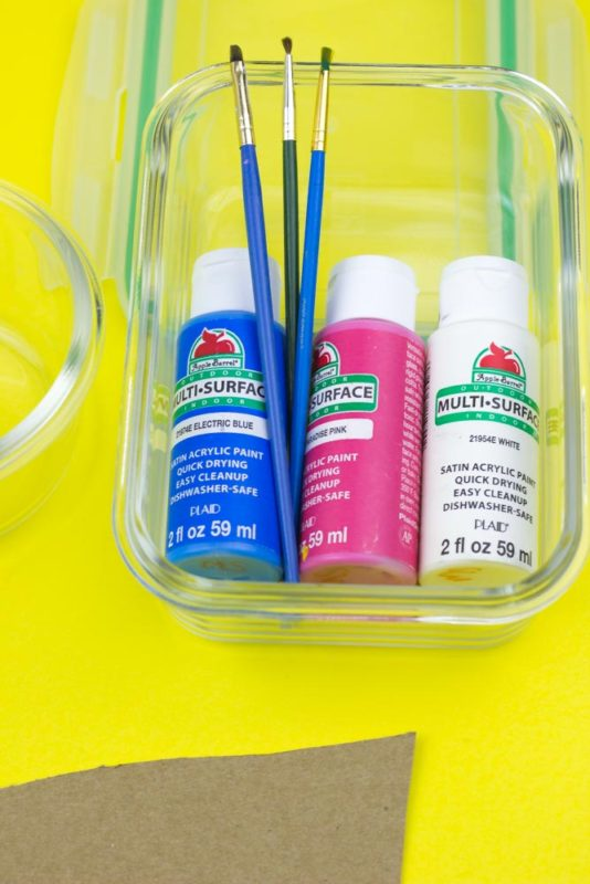 supplies - lunch box idea - paint