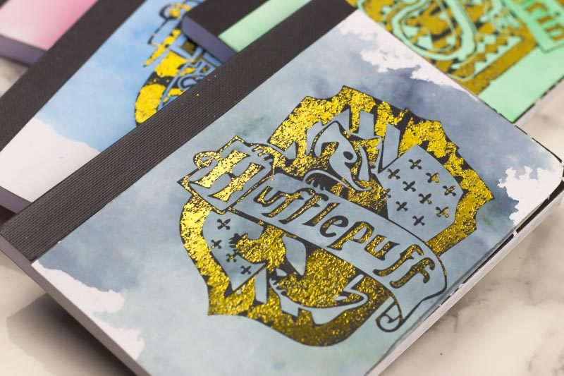 hufflepuff - DIY Hogwarts Inspired House mini-notebook