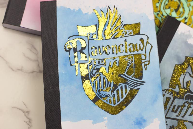 gold foil ravenclaw mini-notebook