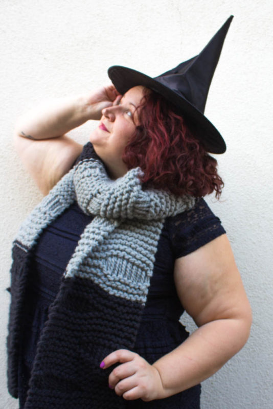 the worst witch - scarf pattern - free knitting