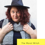 Get ready for your first day at Miss Cackles Academy with a The Worst Witch inspired Drop Stitch Scarf! Knit with chunky yarn and big needles, this scarf is an excellent weekend project!  Do It Your Freaking Self   #TheWorstWitch #DropStitch #ChunkyKnits
