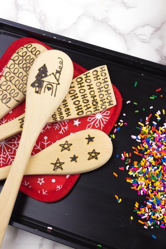 Wood Burned Spoon, DIY, Holiday Gift -