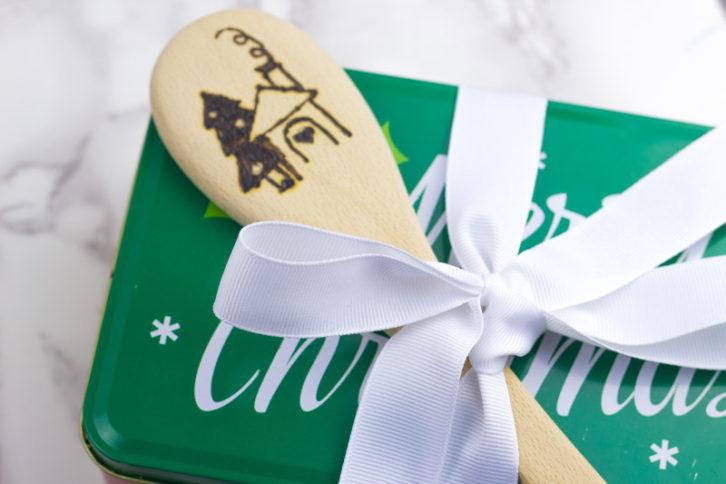 Wood Burned Spoon, DIY, Holiday Gift