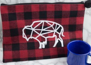 red plaid - buffalo check bag - geometric buffalo