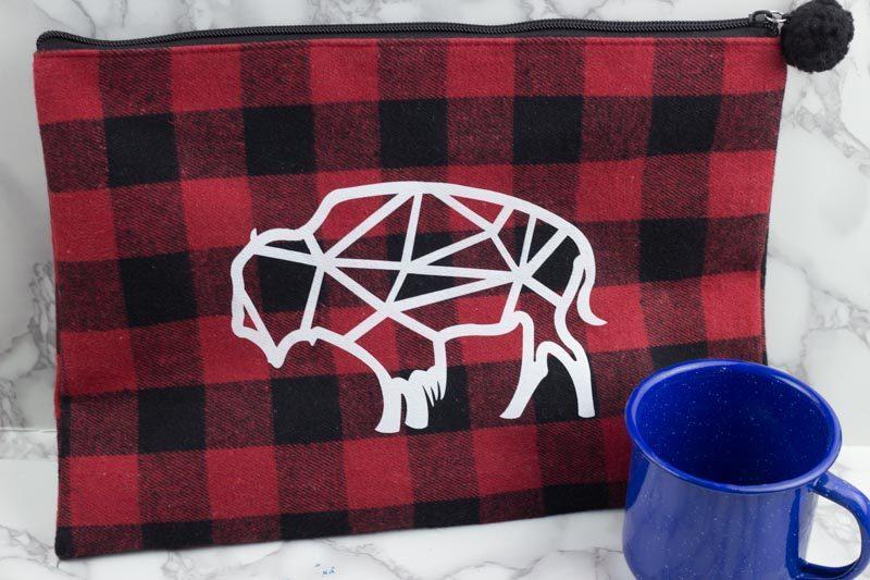 red plaid - buffalo check bag - geometric buffalo