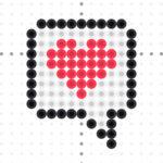 heart-speech bubble perler bead pattern