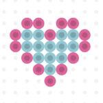 mini heart perler bead pattern