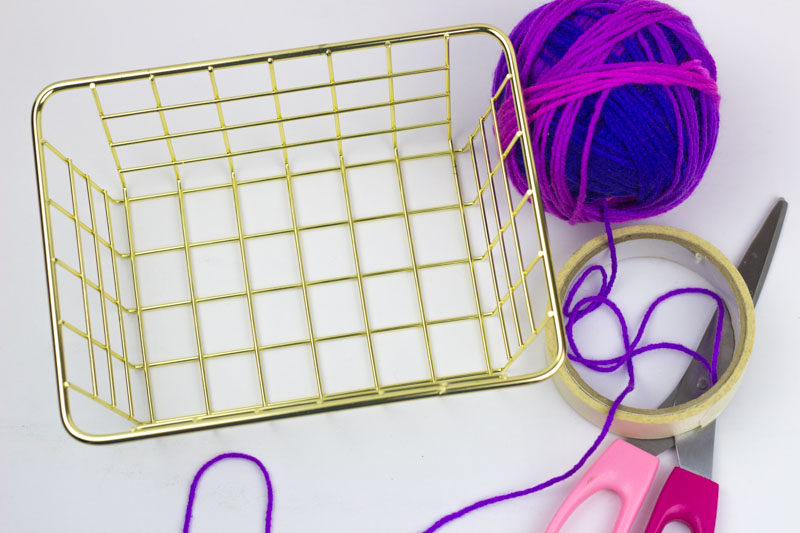DIY Fringe basket
