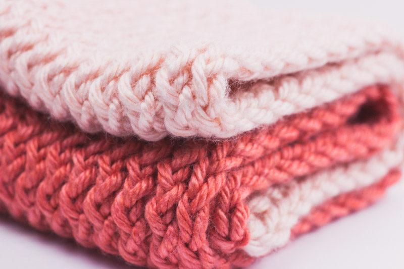 Loom Knit 2 Tone Infinity Scarf