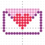 envelope perler bead pattern