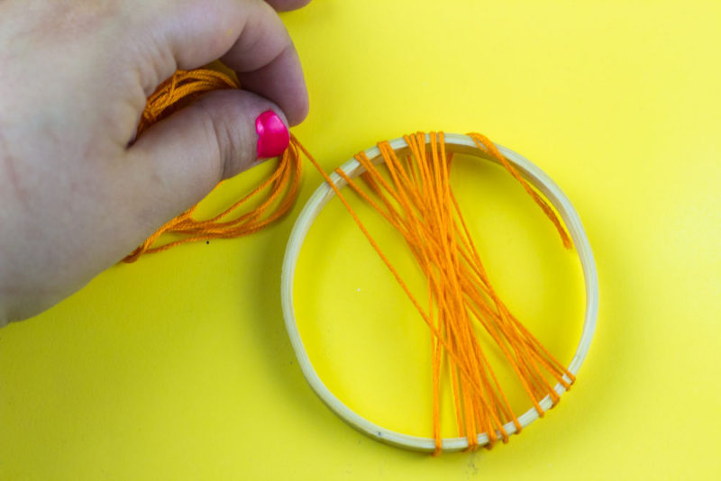 embroidery floss - hoops - supplies