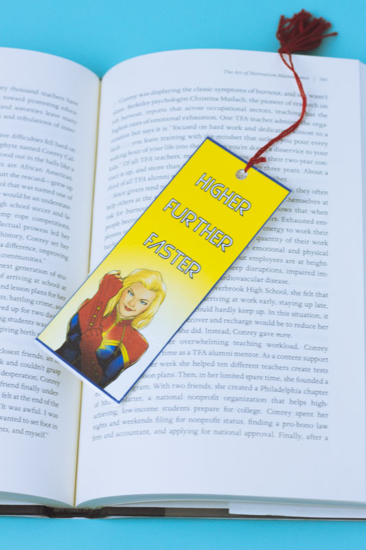 Captain Marvel Bookmarks