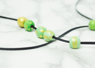 painted wooden beads - ombre necklace