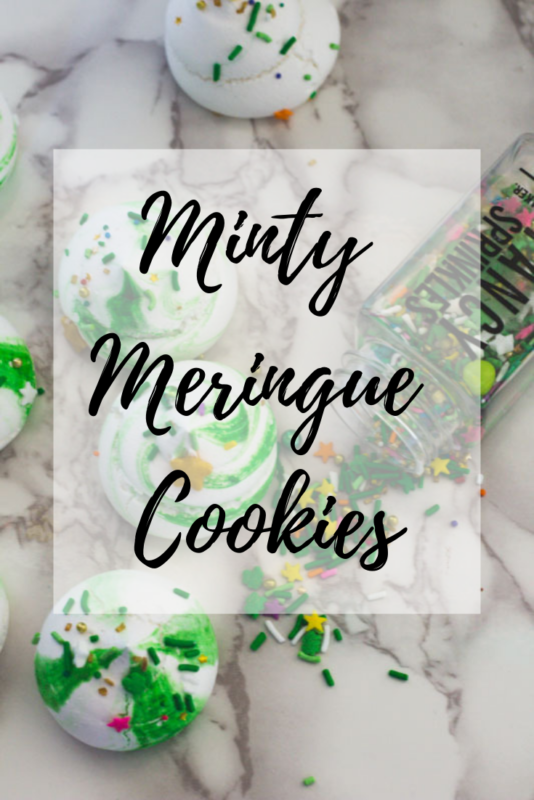 minty meringue cookies