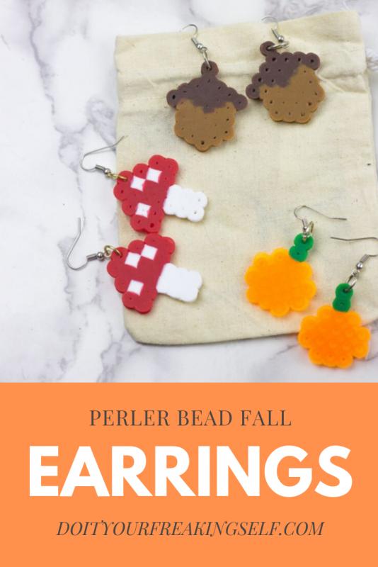 Perler Bead Earrings - Pinterest 1