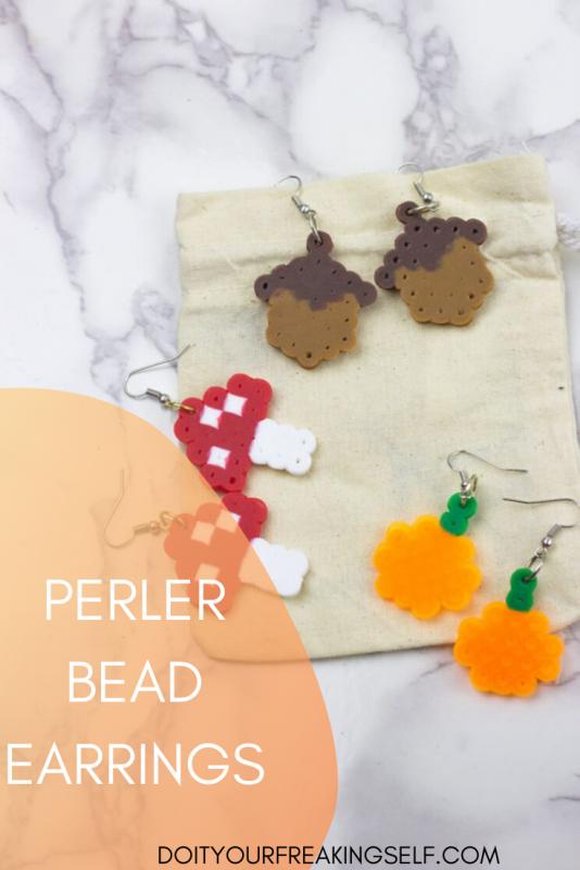Perler Bead Earrings - Pinterest 3 - Doityourfreakingself.com